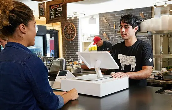 Clover POS in-store at counter
