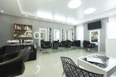 Interior view of a hair salon